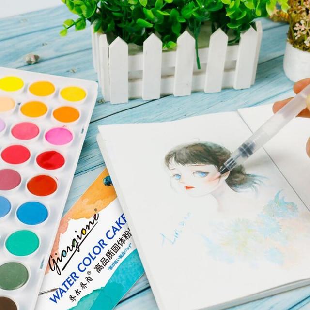 3/6 PCS Set Water Paint Soft Brush Pen Watercolor Brush Pen refillable Nylon Brush Tip Pen For Painting Drawing Art Supplies 3