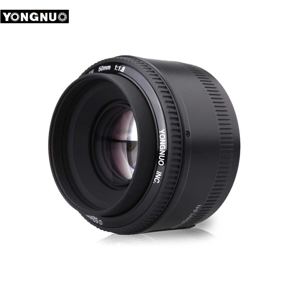 YONGNUO YN50mm f1.8 automatyczne ustawianie ostrości obiektyw do modeli Canon EOS 60D 70D 5D2 5D3 600d lustrzanki cyfrowe obiektyw YN EF 50mm f/ 1.8 obiektywu AF