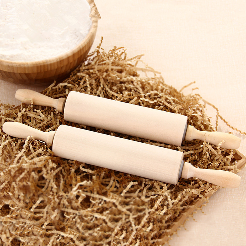 Beech Wooden Rolling Pins Rollers 360 revolving Baking Tools Jiaozi Bread Cooking Tools Natural Color Eco No Paint No Wax