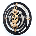 Настенные часы с зубчатой передачей  современный дизайн  гостиная  имитация металла  часы с зубчатой передачей  Европейский стиль  Ретро сти...