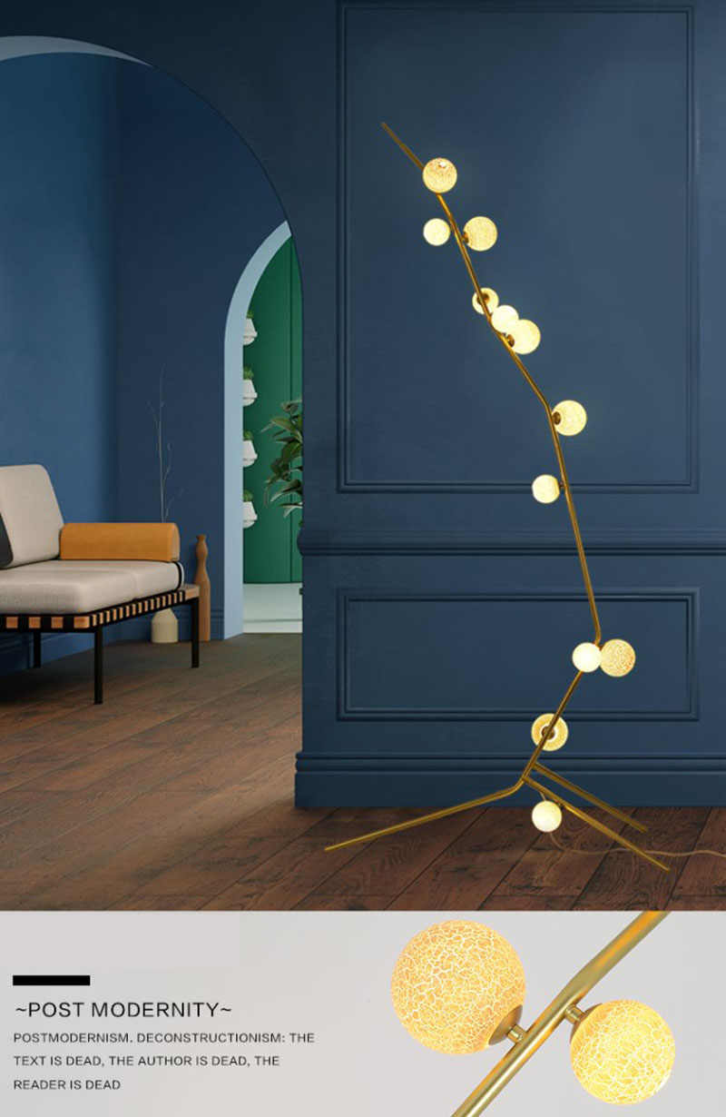 Современная лампа с подтяжками Lumiere светодиодный Manger горит ШАМБРЕ фойе Rond шар Verre Noir или Nordique простой современный торшер