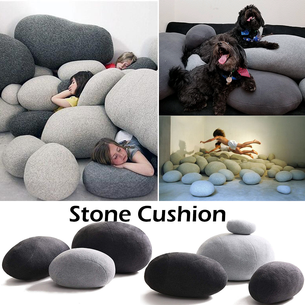 3D pierres artificielles énormes forme gros coussins de roche jouets en peluche pour enfants créatifs décoration de la maison oreillers paresseux D20