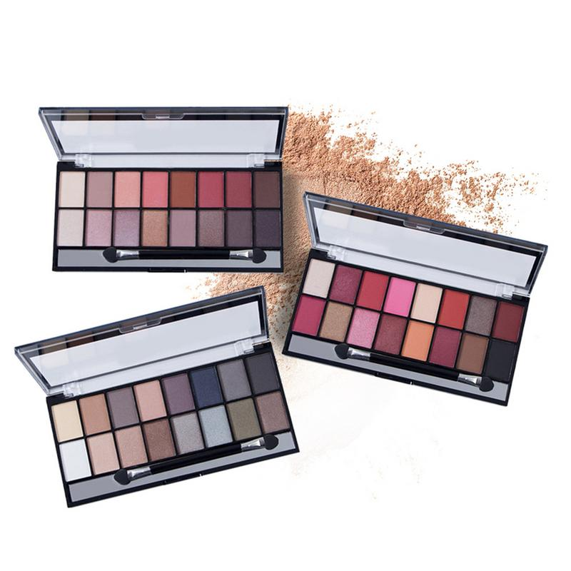 Lameila 16 Colors Natural Makeup Eye Shadow Pearlescent Matte Earth Tone Makeupbrighten Skin Colour Dress Up Your Beauty Eye Shadow