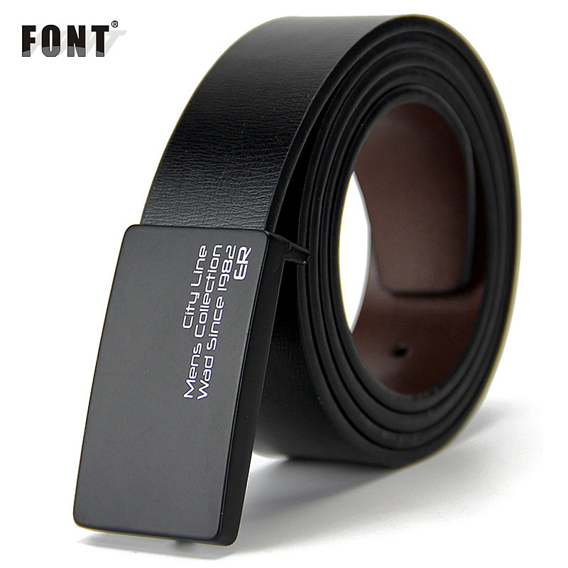 New mens genuine leather belt men cowskin belt formal suit trousers belt double metal buckle strap gift for men belts ...