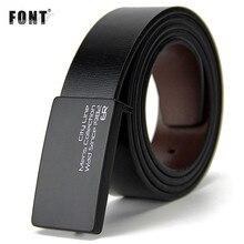 New men's genuine leather belt men cowskin belt formal suit trousers belt double metal buckle strap gift for men belts