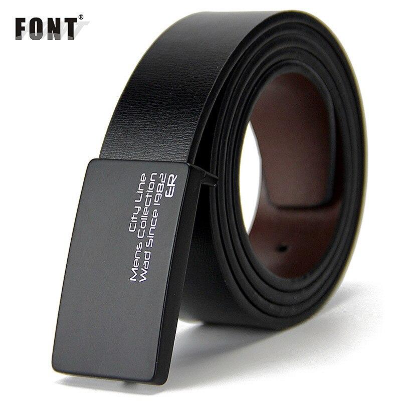 Nouveaux hommes de ceinture en cuir véritable hommes cowskin ceinture formelle costume pantalon ceinture double boucle en métal bracelet cadeau pour les hommes ceintures