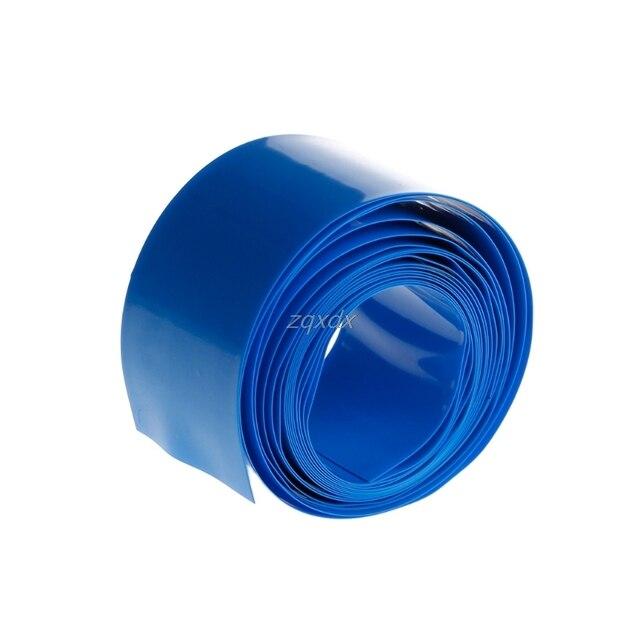 2m PVC Heat Shrink Tube Wrap Kit For 18650 18500 Battery Flat Round 18.5mm Hot Dropship 2