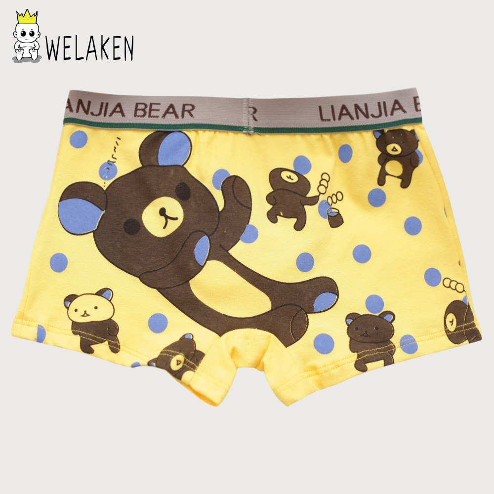 weLaken 5 Pcs/lot Cartoon Children Underpants Comfortable Breathable Underwear Kids Boxer Baby Panties For 2-10Yrs Boys Briefs