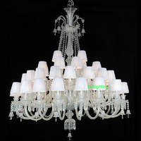 Modern White Chandelier Suspension Modern Crystal Chandelier Black Large Decoration Large Chandelier Light Living Room Lamps