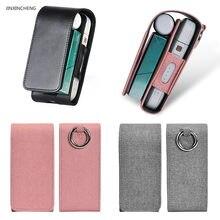 Jinxingcheng caso para iqos 2.4 plus caso bolsa para iqos saco de couro do plutônio carteira capa protetora titular
