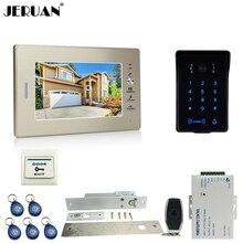 """TFTvideo JERUAN 7 """"teléfono de la puerta sistema de intercomunicación key touch contraseña RFID nueva prueba de agua teclado cámara + control remoto desbloquear"""