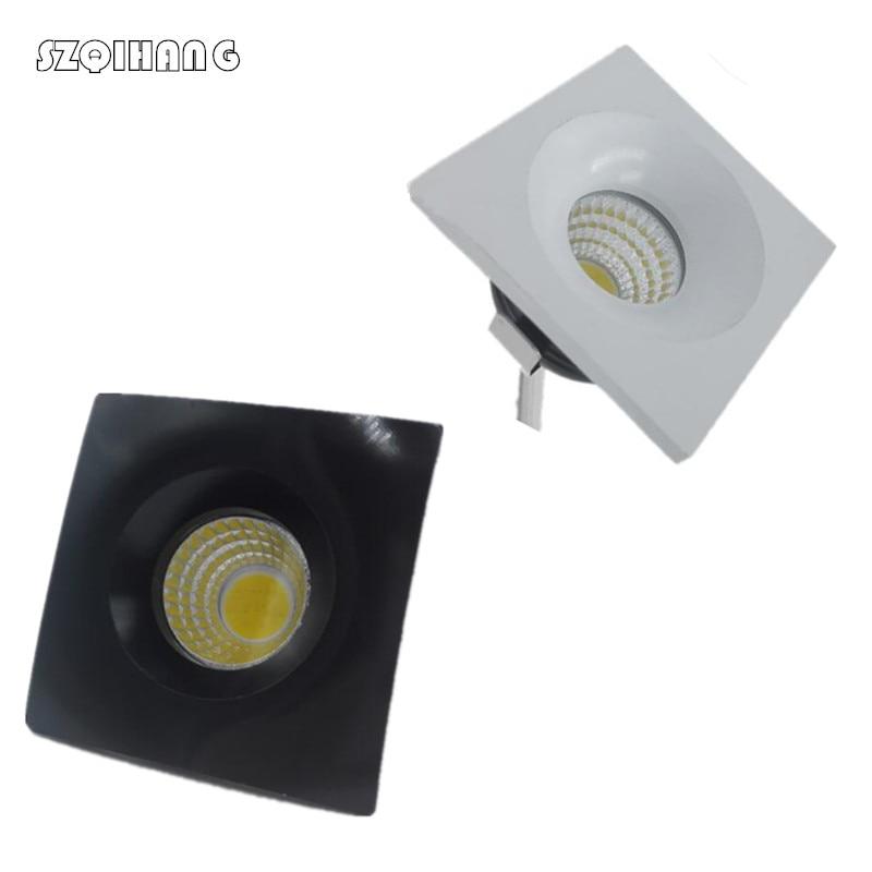 MINI COB square LED downlight 3W 5W Dimmable Foyer living sitting recessed micrIo miniature spot down light AC110V/AC220V