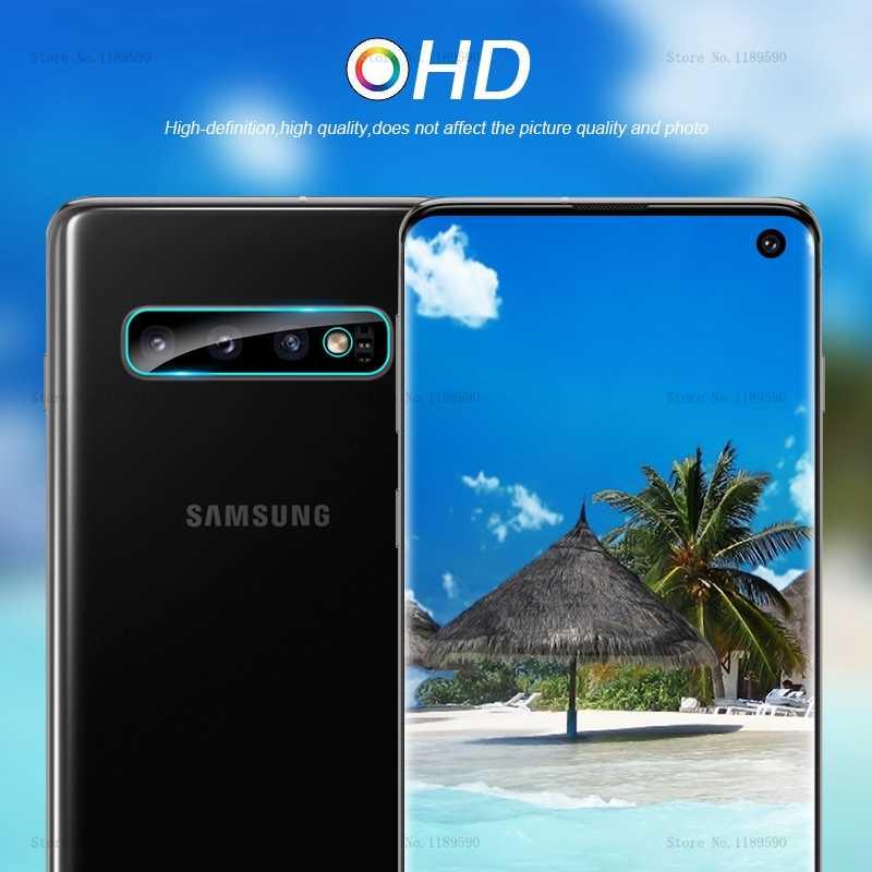 Lente da câmera de Vidro Temperado Protetor de Tela do Filme Protecctive 2.5D Para Samsung Galaxy S10 Plus S10e S10 A50 A30 A10 M10 m20 M30