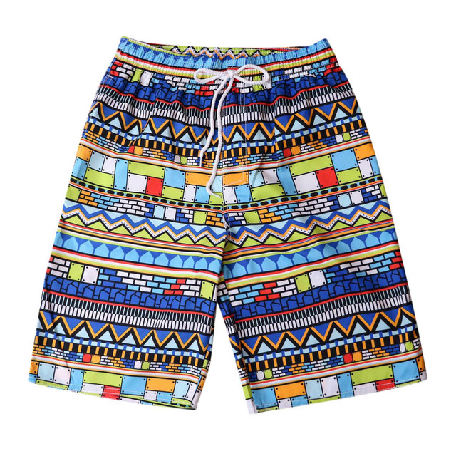c539e33c74 Beach Quick Dry Printed Short Swim Trunks Lining Swimwear Bathing Suits  Funny Shorts with Mesh Lining Swimwear Bathing #XTN