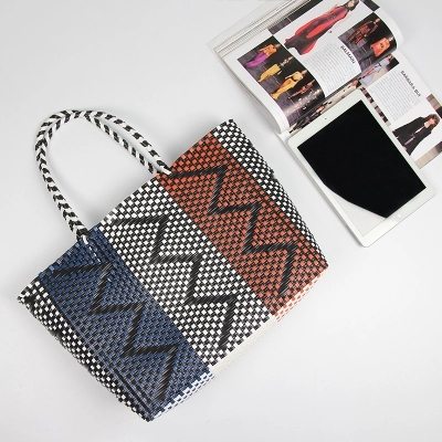 2018 Fashion Women Durable Weave Beach Bag Woven Bucket Casual Tote Handbags Bags Por Receive