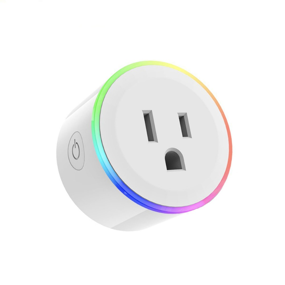 Mini Smart WIFI Plug US Plug LED Light Power Socket WIFI Wireless Outlet Control Timing Function Plug For Smart Home Automation wi fi enabled mini outlets smart socket control your electric devicsmart us plug wifi smart wireless socket m 16