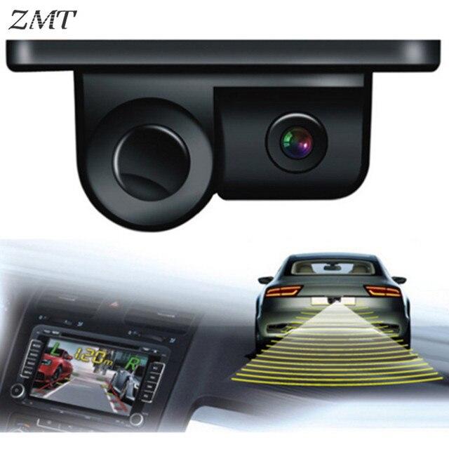 הרכב חזותי שני-in-one היפוך רדאר מצלמה זמזם צליל מכונית אחורית שחור בחדות גבוהה הפוך אקוסטית תמונה PZ450