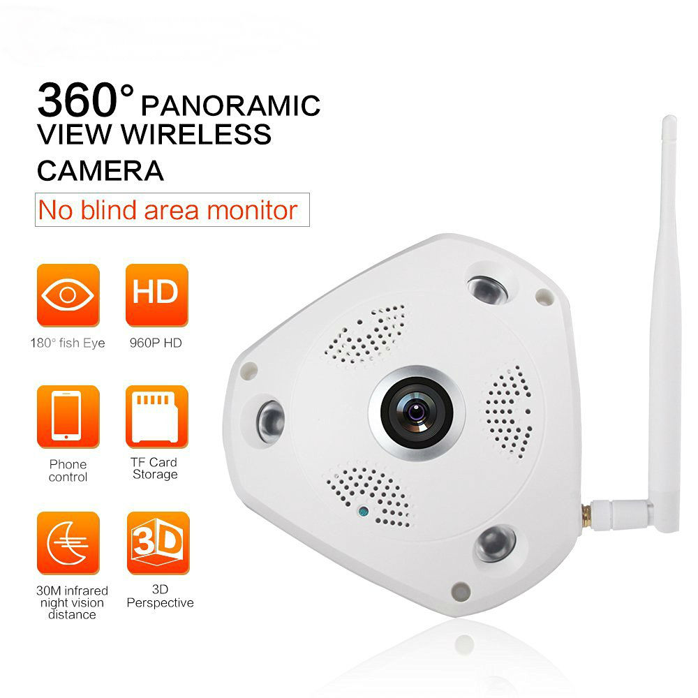 ФОТО 360 Degree 960P Panoramic Wireless Ip Camera System Fisheye Monitoring System 1.3 Megapixel P2P Surveillance VR Wifi IP Camera