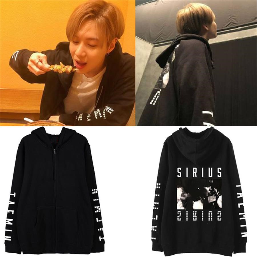 US $26 99 |Kpop Shinee TAEMIN Japan 1st Tour SIRIUS Support Cotton Cap  Hoodie Loose Cotton Fleece Jacket Outwear Zipper Coat-in Hoodies &  Sweatshirts