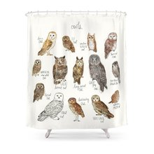 Amazing CHARM HOME Owls Polyester Fabric Bathroom Home Decoration