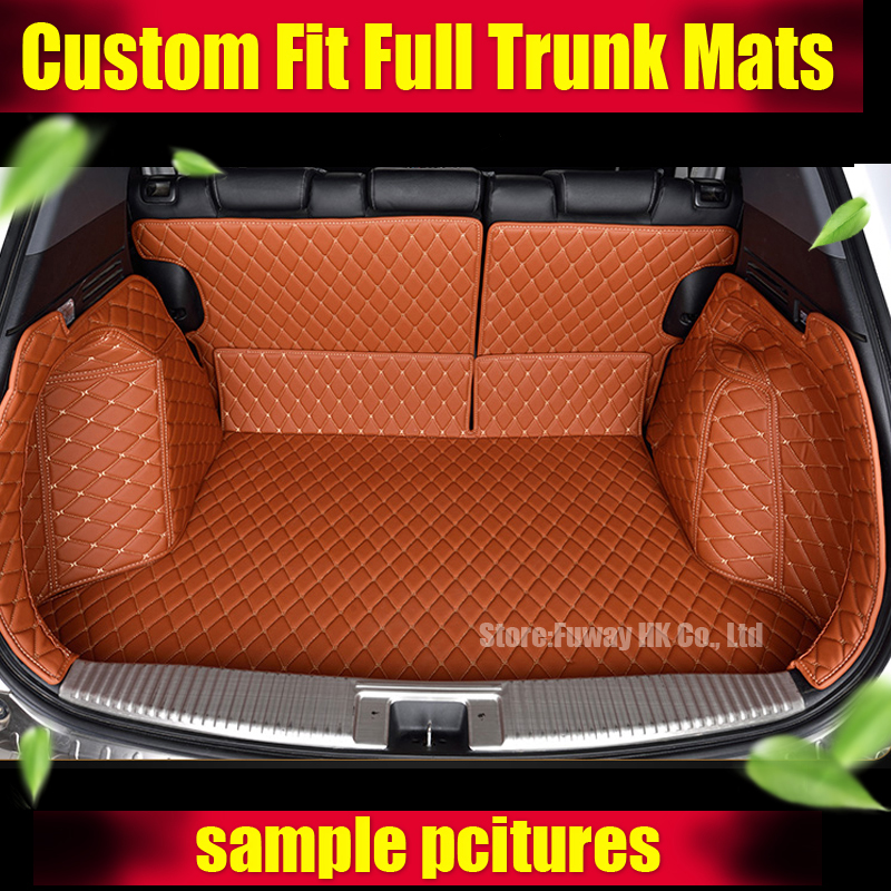 Custom fit car trunk mat for Toyota Camry Corolla RAV4 Mark X Crown FJ Cruiser yaris L 3D car-styling tray carpet cargo liner custom cargo liner car trunk mat carpet interior leather mats pad car styling for dodge journey jc fiat freemont 2009 2017
