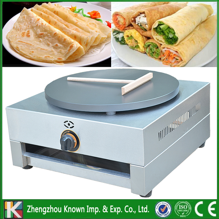 Free shipping supply the stainless steel 110V / 220V / gas type single pan of crepe maker / commercial crepe making machine fast food leisure fast food equipment stainless steel gas fryer 3l spanish churro maker machine