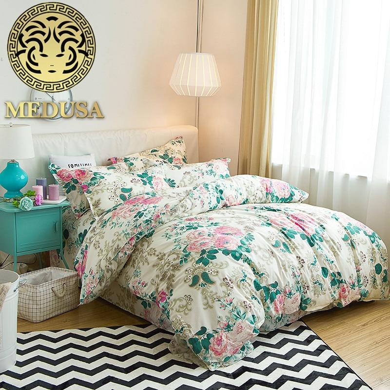 Medusa moderne cvjetne posteljine kraljica dvostruko jednu veličinu - Tekstil za kućanstvo