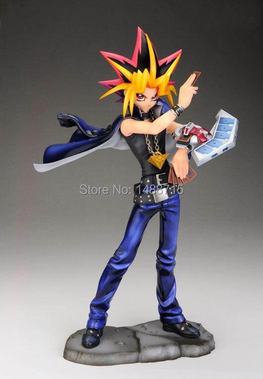 Hot Sale Yu Gi Oh King of Game Mutou Yugi Atum Japan Game Anime Comic 23CM Figure Toy yu gi oh artfx j atum yugi muto pvc action figure collectible model toys free shipping