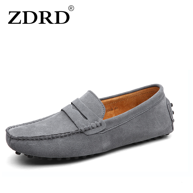 ZDRD Brand Fashion Summer Style Soft Moccasins Men Loafers High Quality Genuine Leather Shoes Men Flats Gommino Driving Shoes new style comfortable casual shoes men genuine leather shoes non slip flats handmade oxfords soft loafers luxury brand moccasins