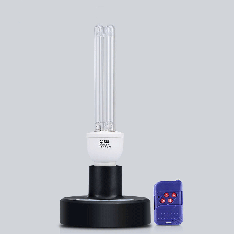 25W UV ozone disinfection bactericidal quartz bulb sterilizer portable mite remote control sterilization home ultraviolet lamp