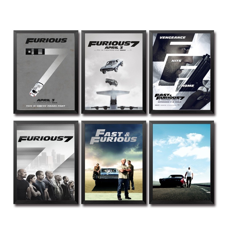 Fast Furious Movie Paint Wall Art Decor Silk Prints Poster Paintings For Living Room