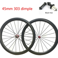 45mm Dimple Carbon Wheel 303/ 404 Stickers 25mm wide Road Bike Wheel set Clincher / Tubular Bicycle Wheel 700C
