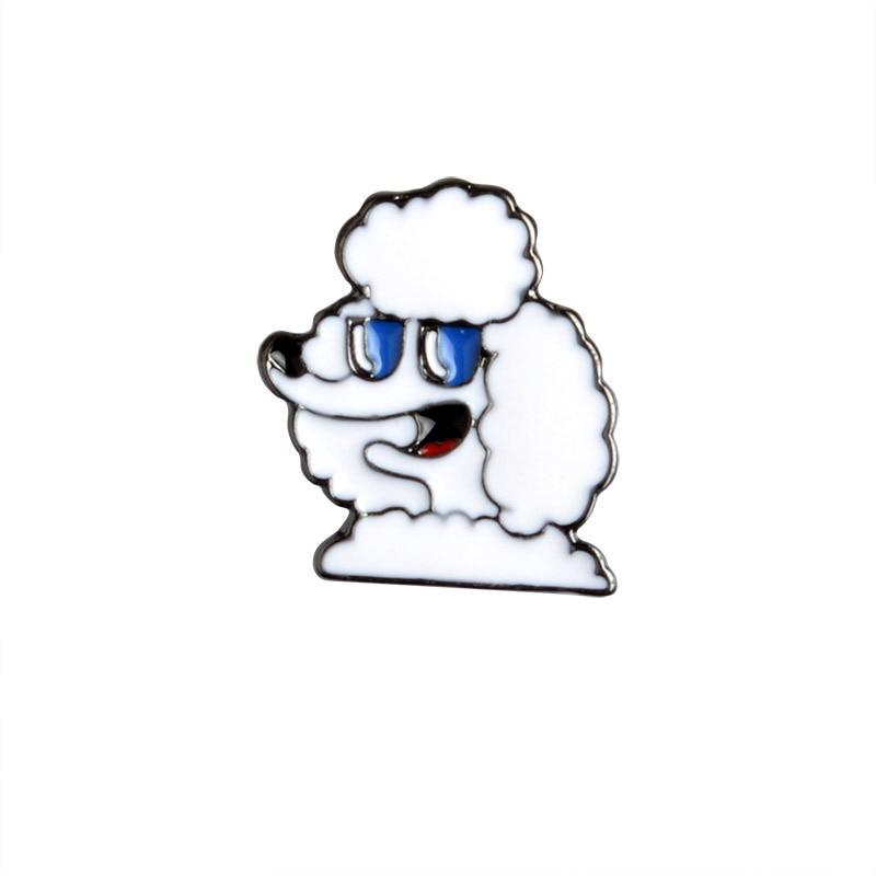 5 PCS / SET Crtani Slatki psi Metalni emajl Pin Životinjski znak - Modni nakit - Foto 3