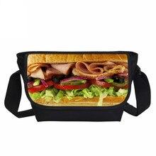 712f454ababf VEEVANV модные детские сумки на плечо гамбургер печати Crossbody кошельки  Повседневное Малый Сумки школьные сумки мальчиков