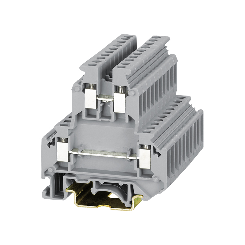 50 pcs UKK5 Fil Terminal Rail DIN Classe Universelle Terminal Splice Double-Pont Phoenix Fil Câble Terminal