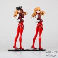 Anime eva neon genesis evangelion asuka langley soryu cat ouvidos chapéu sportswear pvc action figure model collection toy 23.5 cm