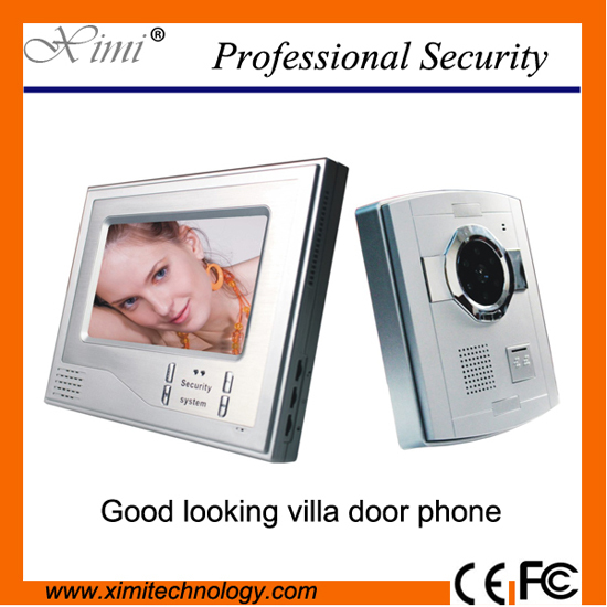 Smart home system 7 inch video door bell night version intercom villa video door phone v70h l 1v1 xsl manufacturer 7 inch color water proof video door phone system and audio intercom door phone for villa