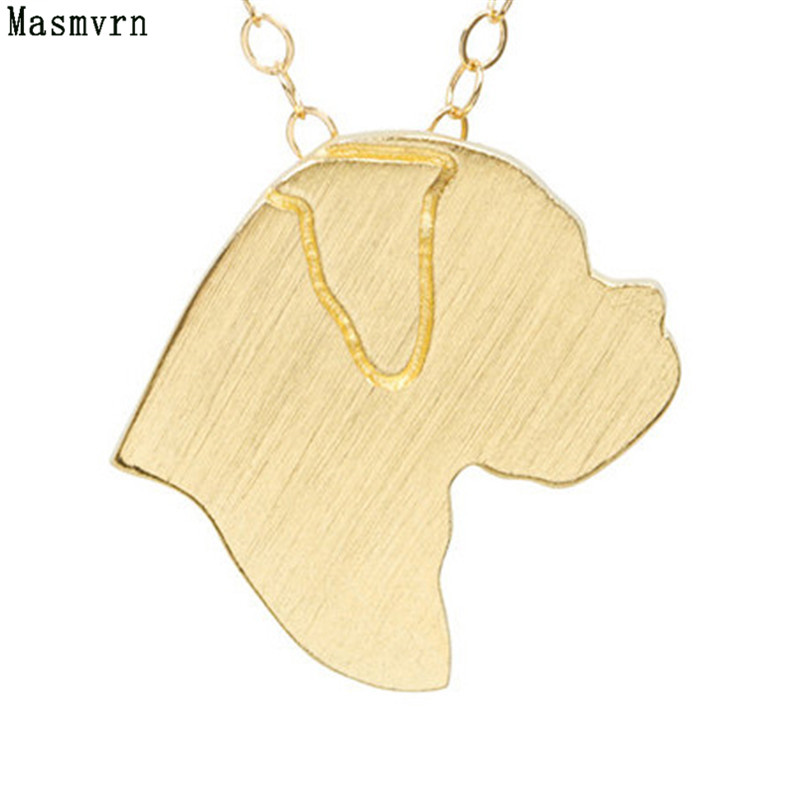 Fashion Boxer Discontinued Necklace Gold Silver Charm Boxers Jewelry Pet Dog Women Necklaces Pendants Memorial Gift For Women