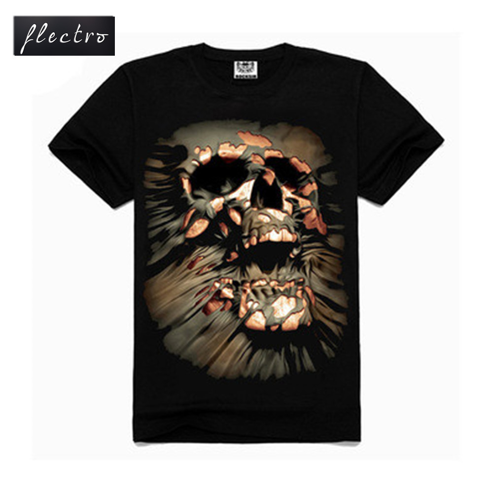 3d Printed Skull Brand New Fashion Mens T Shirts Cotton O
