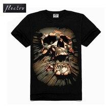 3D Printed Skull Brand New Fashion Mens T Shirts Cotton O Neck T-shirt Men Short Sleeve Shirt Mens Clothing Casual Tee Tops