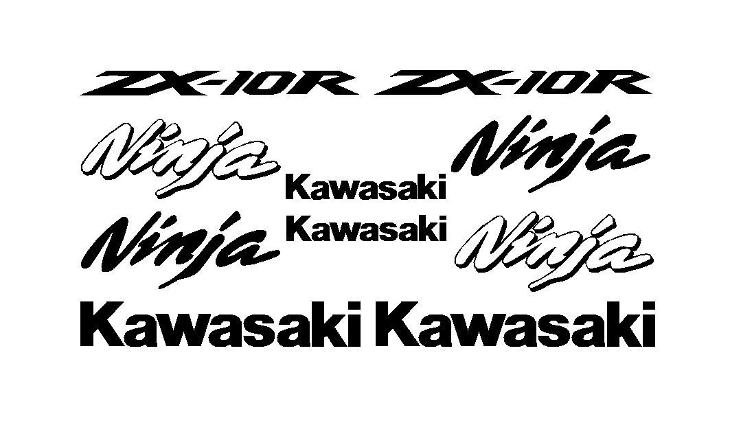 1Set KAWASAKI ZX 10R Ninja Decal Sticker Kit zx 10r-in