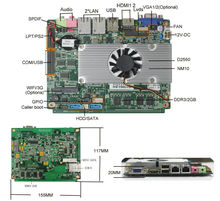 3.5 inch tiny board Server motherboard based on intel Atom D2550 CPU 2GB RAM Onboard
