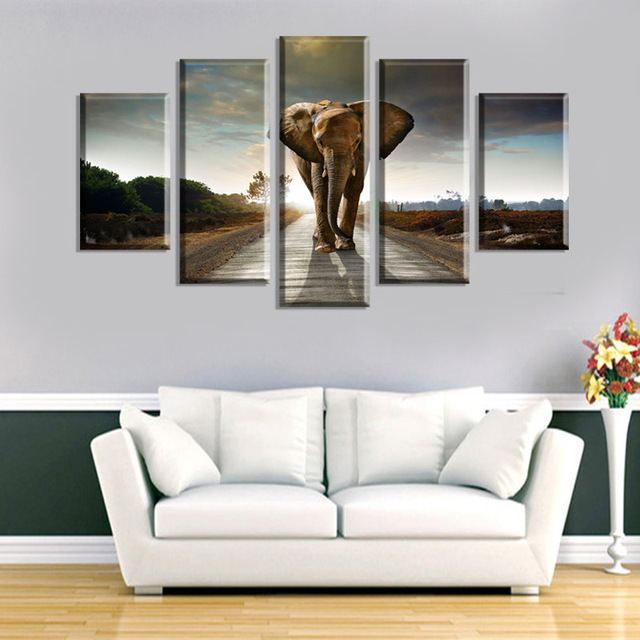 5 ppcs art animal painting wall art picture home decoration modern abstract canvas print modern painting