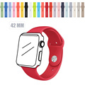 2016 New Silicone Watchbands With Adapter Apple 38 Mm Or 42 Mm Motion Buckle Strap Women Men Bracelet For IWATCH Accessories