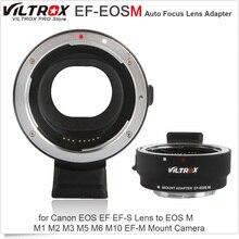 Viltrox EF-EOSM adaptateur d'objectif de mise au point automatique électronique pour objectif Canon EOS EF EF-S vers EOS M M1 M2 M3 M5 M6 M10 caméra à montage EF-M