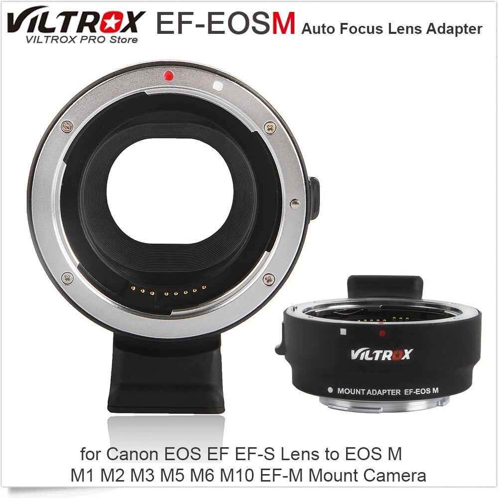 Viltrox EF-EOSM electrónica de enfoque automático adaptador de lente para Canon EOS EF EF-S lente para EOS M M1 M2 M3 M5 m6 M10 EF-M montaje de cámara