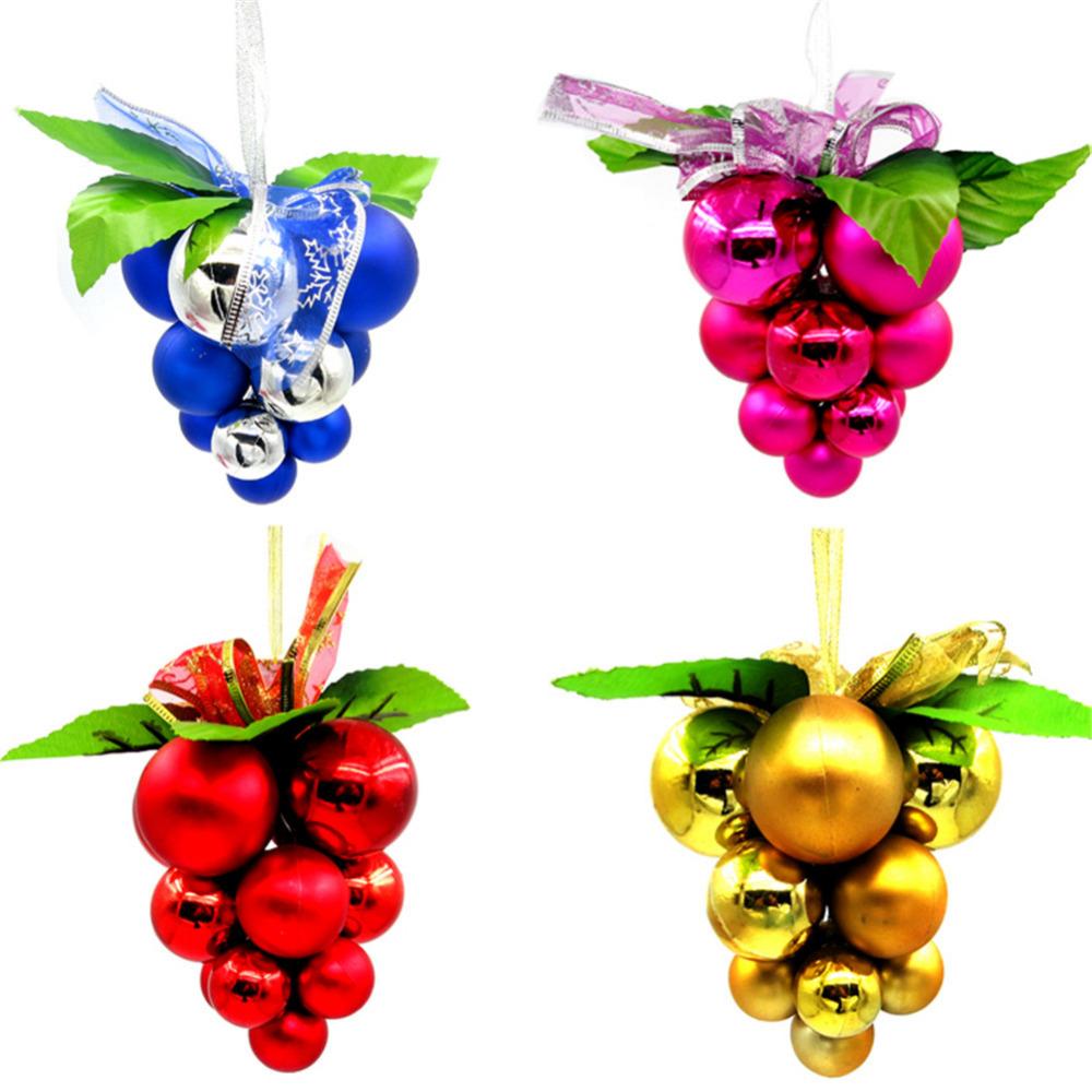 colores uva cadena de bolas de navidad adornos de rbol de navidad ornamento colgante adornos