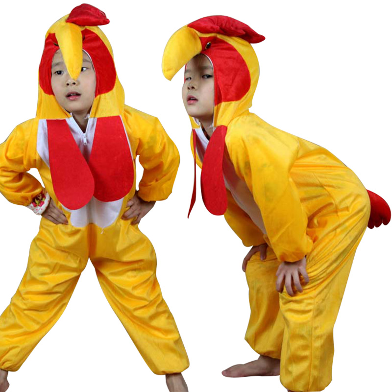 Children's Day Party Performance Clothing Kid Cartoon Animal Suits Animal Cock / Rooster Cosplay Costume Fancy Dress