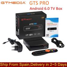 IPTV GTmedia GTS PRO Android 6.0 TV BOX+DVB-S/S2 Smart TV BOX Built-In WiFi HD 4K Remote Control Satellite Receiver Set Top Box(China)