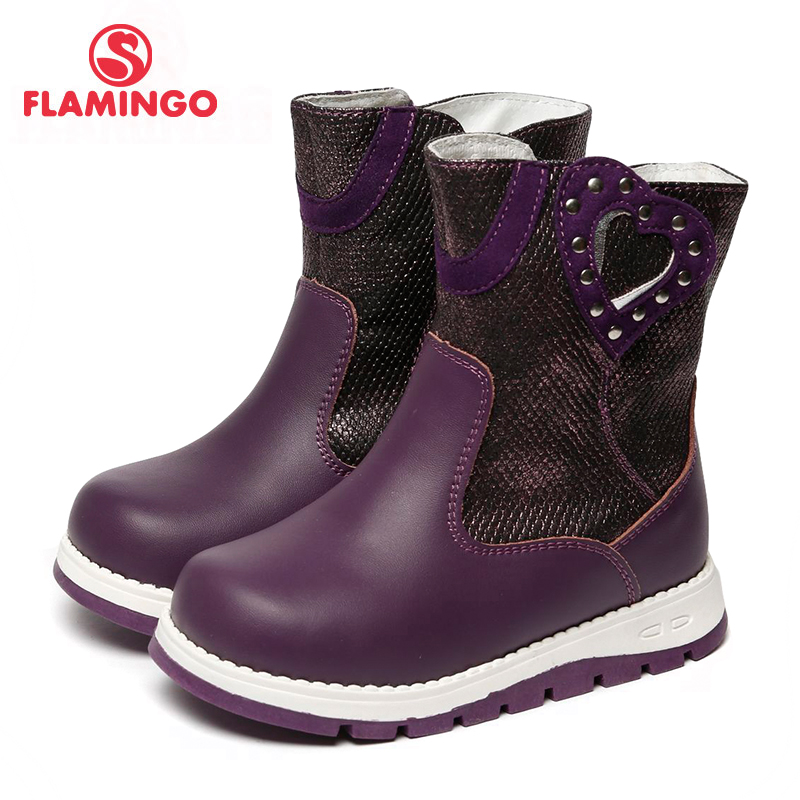 FLAMINGO 2017 new collection winter fashion high boots with wool high quality anti-slip kids shoes for girl 72WC-CH-0457/ 0458 flamingo 2017 new collection winter fashion snow boots with wool high quality anti slip kids shoes for girl 72m yc 0430 0431